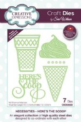 CED23022 - Creative Expressions Dies by Sue Wilson - Necessities Collection - Here's The Scoop Die